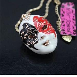 Jewelry - Betsey Johnson Drama Mask Necklace